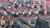 View of organized rows of a housing complex in the Pudong financial district , Shanghai, China