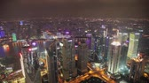 Šanghaj : timelapse video of Shanghai CBD at night Dostupné videozáznamy