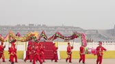Xian, China -Feb 02, 2012. Dragon dance at  Spring Festival
