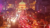 traffic Of Xian At Night,China.