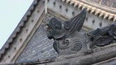 tile : traditional roof eaves of a Chinese  temple Stock Footage