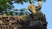 traditional roof eaves of a Chinese  temple Stock Footage