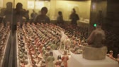 requintado : XIAN China-May 30 2012: Chinese ancient cultural relic display in Shaanxi Museum Stock Footage