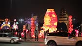 efsane : XIAN CHINA-Feb 03 2012: Lanterns decorations and people roaming during chinese spring festival