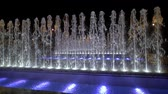 bright night lights : Fountains by night Stock Footage