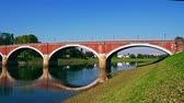 Sisak old bridge Stok Video
