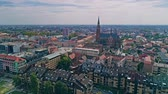 Osijek city aerial Stok Video