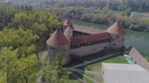 Sisak triangular fortress aerial Stok Video
