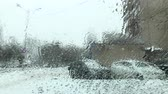 hava durumu : wet snow with rain falls on the glass