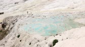 pamukale : Pamukkale meaning cotton castle in Turkish is a natural site in Denizli Province in southwestern Turkey. Pamukkale is one of Turkeys top attractions and its precious in the world with its cotton-look terraces. The underground water once gave life to the