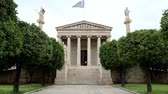 atina : The main building of the Academy of Athens in Greece