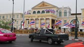 mod : THAILAND, BANGKOK, APRIL 11, 2014: Road traffic close by the Thailand Ministry of defence in Bangkok