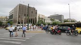 atina : GREECE, ATHENS, JUNE 7, 2013: Road traffic near Parliament and Syntagma square in Athens, Greece, June 7, 2013