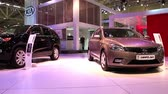 kia : KIEV, UKRAINE, MAY 27, 2012: KIA at the yearly automotive show SIA 2011 in Kiev, Ukraine. Stock Footage