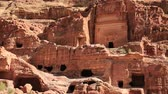 Uneishu Tomb in ancient Petra - historical and archaeological rock-cut city in Hashemite Kingdom of Jordan. UNESCO world heritage site