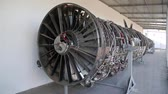 turbofan : Big aircraft reaction turbine Stock Footage