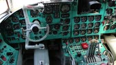 摘要 : Old aircraft cabin. Tu-134UBL Combat Trainer. Aircraft instruments panel, interior of old airplane since the Soviet Union