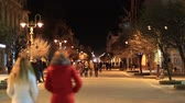 stanislav : UKRAINE, IVANO-FRANKIVSK, FEBRUARY 23, 2017: People on the street in Ivano-Frankivsk, formerly Stanyslaviv, historic city located in western Ukraine, administrative center of Ivano-Frankivsk Oblast Stock Footage