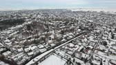 Small Town in Winter Aerial