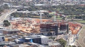 south australia : Aerial View Adelaide South Australia Construction Of Adelaide Hospital HD Footage Stock Footage