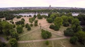 willis tower : Hyde Park Landscape London Stock Footage