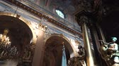 gironde : St.Andrew Church Interior View Stock Footage