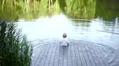 рыба : Little boy fishing outdoors