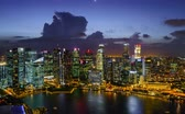 downtown : Timelapse day and night in Singapore
