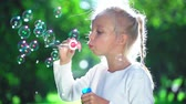 varinha : Little girl in the summer park Stock Footage