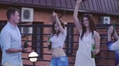 приятель : Dancing people outdoors