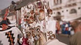 Венеция : Venetian masks on the street of Italy Стоковые видеозаписи