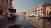 Венеция : View of the Grand Canal in Venice Стоковые видеозаписи
