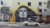 budynki : Street graffiti on a building in los angeles Wideo
