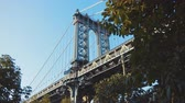 뉴욕시 : Manhattan Bridge in New York City by day