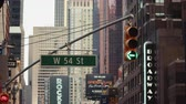 뉴욕시 : Traffic light on Broadway, NYC