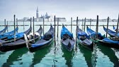 Seamless loop - Venice gondolas, Italy, HD video