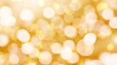 Seamless loop - Golden holiday bokeh lights background, HD video
