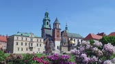 exteriors : Krakow, Poland. Wawel Castle and Cathedral on Sunny Summer Day