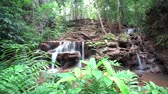 in de berg of Thailand is er een waterval Stockvideo