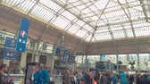 lyon : Paris, France - 14.06.2016. Terminal of the railway station. People are ready to travel. Gare de Lyon from inside.