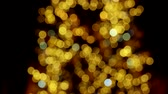 lanterna : Reducing amount of lights. Translucent lights close-up. Flashlights. Stock Footage