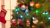 bombki : Beautifully decorated Christmas tree. Elegant shiny Christmas toys on New Year tree. Christmas decorating ideas.