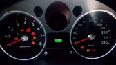 ellenőrzés : car dashboard. Electric car battery charging. Motion graphics