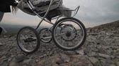 baby carriage : Baby stroller in the mountains, outdoors