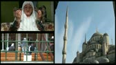 conviction : montage muslim woman pray god, blue mosque and muslim people