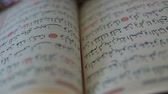 quran : reading  the Holy Quran, shooting close up with f 1.2