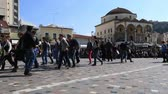 krajina : people walking and shopping in famous place Monastiraki Square in Capital Cities Athens Greece Dostupné videozáznamy
