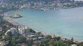 yatch : Dolly shot Time lapse Veduta aerea di Mondello a Palermo in Sicilia Bay