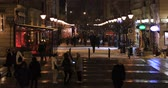 budapeste : Many people walking in the city. Budapest Hungary. Time lapse Stock Footage