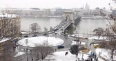 parlament : BUDAPEST, HUNGARY - JANUARY 17, 2019: A aerial view of Budapest city Stock Footage